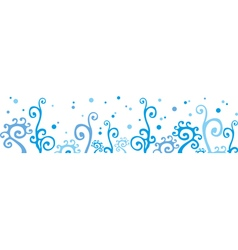 Winter border vector image vector image