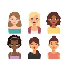 Woman nationality race vector image