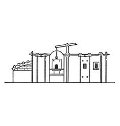 reverberatory furnace vintage vector image