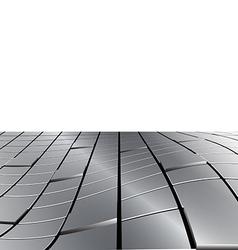 Warped Metal Cubes vector image