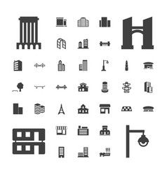 37 city icons vector