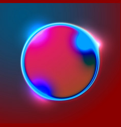 abstract banner with bright circle shape vector image