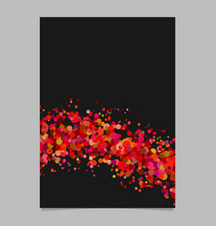 Abstract blank confetti wave flyer background vector
