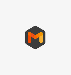 Abstract letter m logo design template creative vector