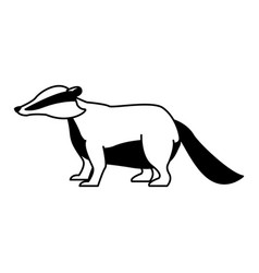 anteater wild animal on black and white vector image