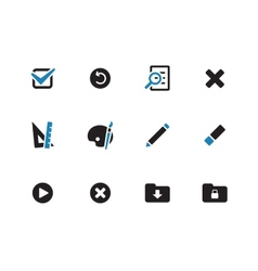 Application interface icons on white background vector image
