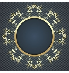 Beautiful elegant card background with gold vector