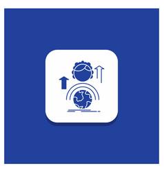 Blue round button for abilities development vector
