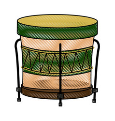 brazilian samba batucada drum instrument music vector image