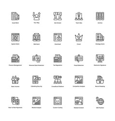 Business and finance line icon 25 vector