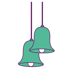 christmas bells hanging decoration traditional vector image
