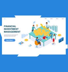 Concept financial investment and management vector
