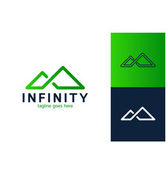 creative and simple mountain and infinity river vector image