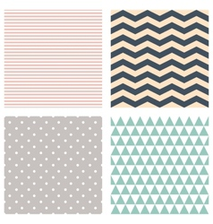 Cute patterns collection background vector image