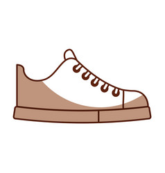 cute shadow shoe cartoon vector image