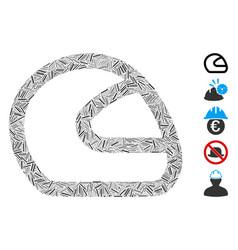 Dash collage motorcycle helmet icon vector
