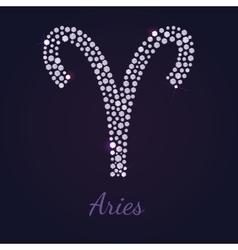 Diamond zodiac Aries vector