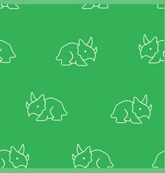 dinosaur triceratops pattern seamless vector image