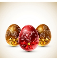 Eggs with bows vector image