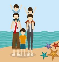 Family travel design vector