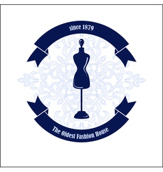 Fashion House logo design template vector image