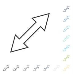 Flip diagonal icon vector