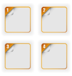 Four Options Template With 3D Page Curl vector image
