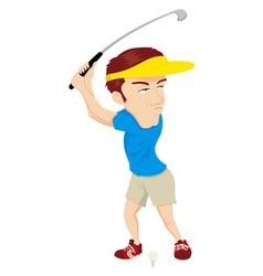 Golfer Cartoon vector image