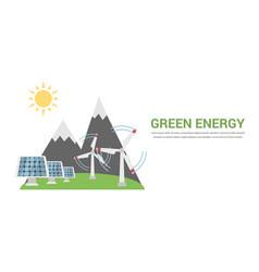 Green energy concept vector