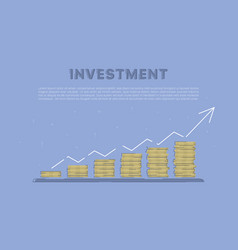 Growing investment concept business vector