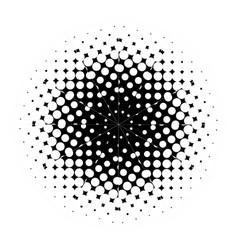 half tone mandala vector image