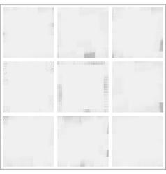 Halftone frame texture set vector