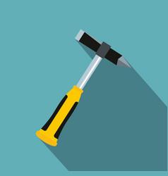 Hammer slag of welder icon flat style vector