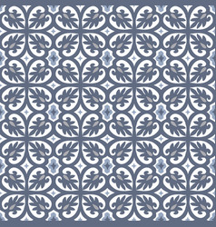 Hand drawn blue moroccan seamless pattern vector