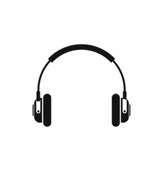 Headphones icon in simple style vector image