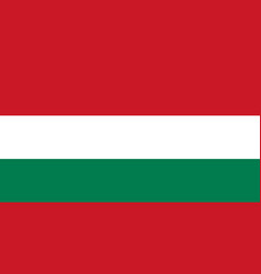 hungarian flag flat layout vector image