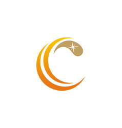 Letter c clean logo vector