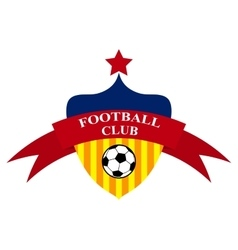 logo design Football Club vector image