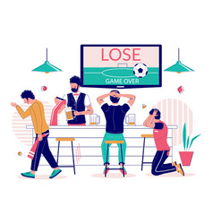 Lost football match flat style design vector