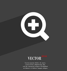 Magnifier glass zoom tool icon symbol flat modern vector