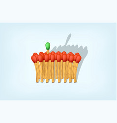 matches business leader vector image