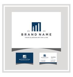 Mercusuar finance logo design and business card vector