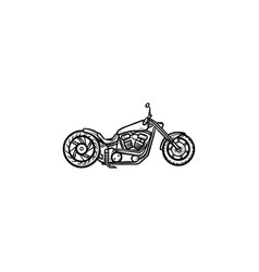 Motorcycle hand drawn outline doodle icon vector