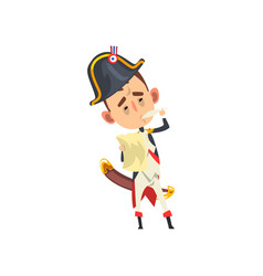 Napoleon bonaparte cartoon character standing with vector