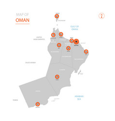 oman map with administrative divisions vector image