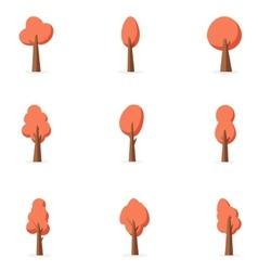 Orange tree set art vector