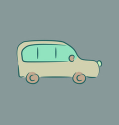 passenger car vector image