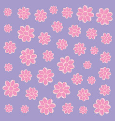 pink flowers decoration vector image