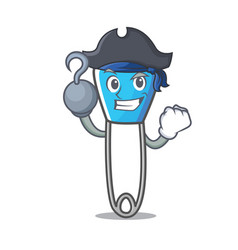 Pirate safety pin character cartoon vector