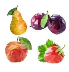 Polygonal fruit vector image